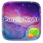 GO SMS PURPLE NIGHT THEME