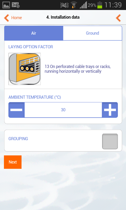 Nexans EASYCALC- screenshot