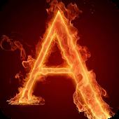 The fiery letter A LWP