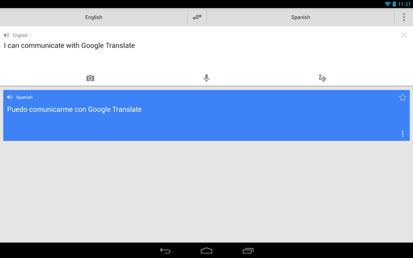 Traductor de Google - screenshot