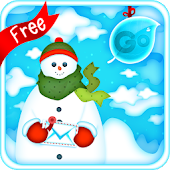 GO Keyboard Snowman Theme