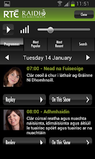 RTÉ Radio Player - screenshot thumbnail