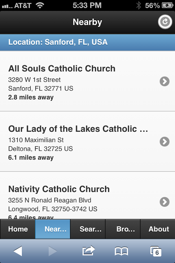 Mass Times Catholic Directory - screenshot