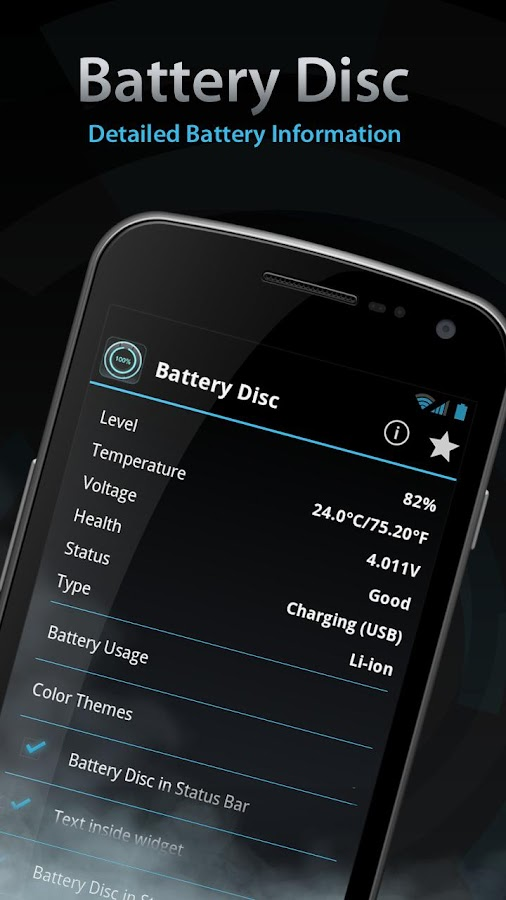 Beautiful Battery Disc Premium - screenshot