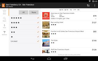 Screenshot of KAYAK Flights, Hotels & Cars