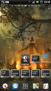 halloween camp fire LWP- screenshot thumbnail