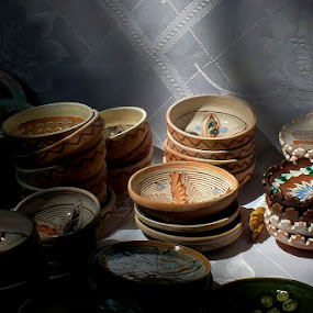 Ceramics by Nicolaie Subotin - Artistic Objects Cups, Plates & Utensils ( clay, plates, pottery, horezu,  )