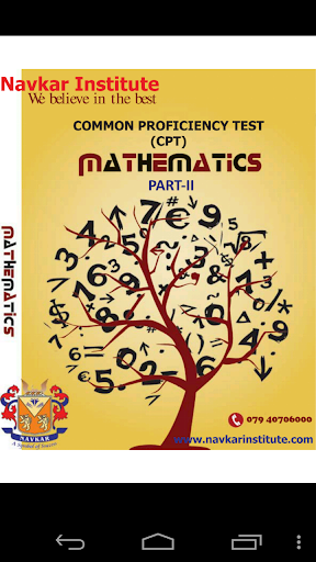 CA CPT QA Maths P-2 e-book