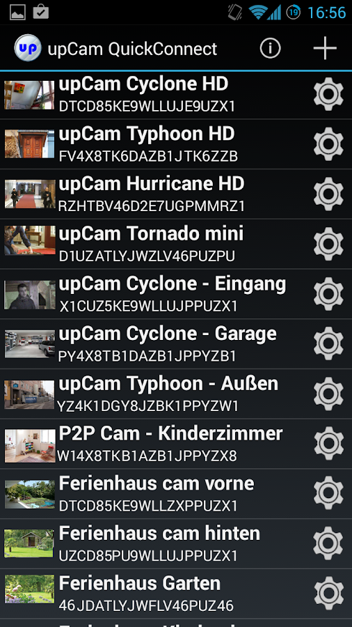 upCam QuickConnect Cam Viewer – Screenshot