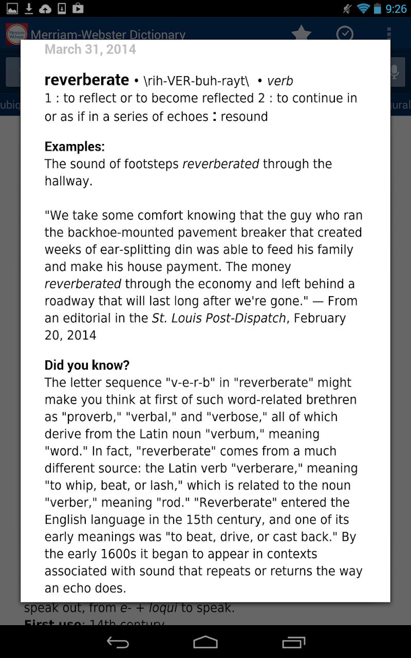 Dictionary - M-W Premium Screenshot 15