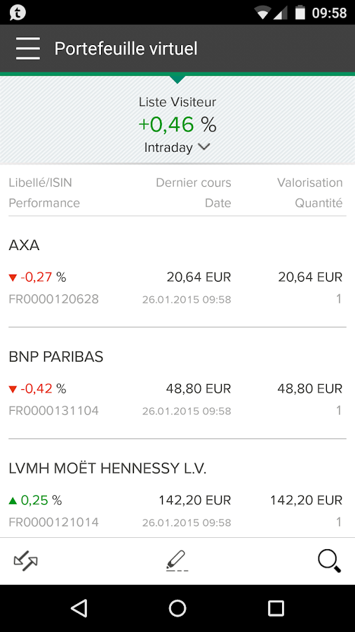 L'AppliBourse- screenshot