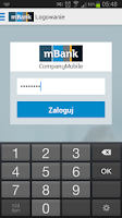 Screenshot of mBank CompanyMobile