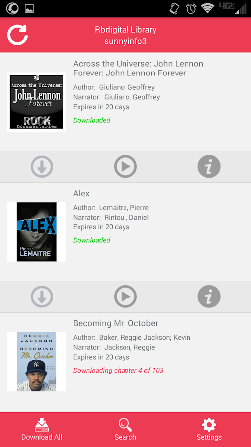 OneClickdigital eAudio Player - screenshot