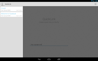 Screenshot of QuickLink