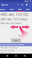 Screenshot of Big Font (change font size)