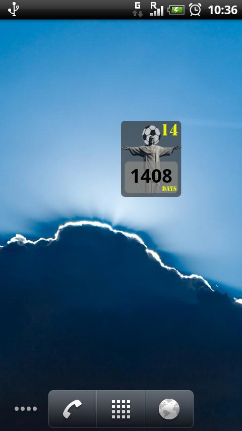 The FIFA 2014 countdown widget - screenshot
