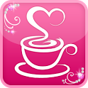 Girls cafe cute icon