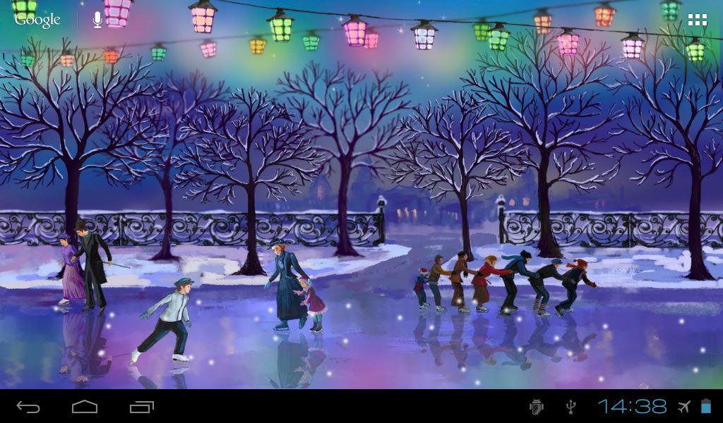 Christmas Rink Live Wallpaper - screenshot