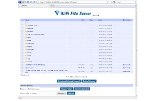 Screenshot of WiFi File Server Pro