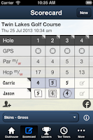 Screenshot of Twin Lakes Golf Course