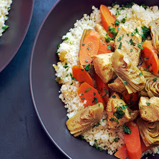 Moroccan Chicken Stew with Artichoke Hearts and Carrots