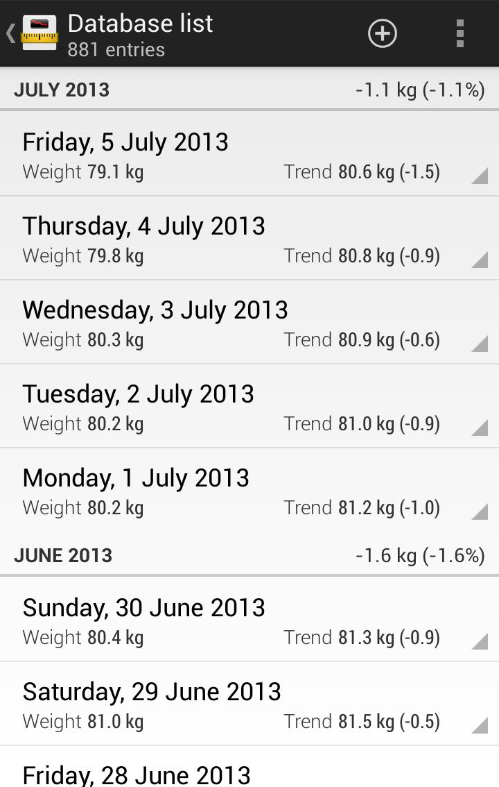 Libra - Weight Manager Screenshot 2