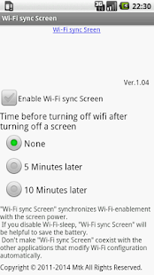 Wi-Fi sync Screen- screenshot thumbnail