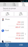 Screenshot of My wallets