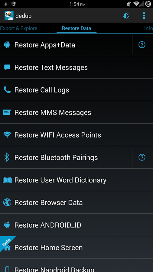 Nandroid Manager * ROOT - screenshot