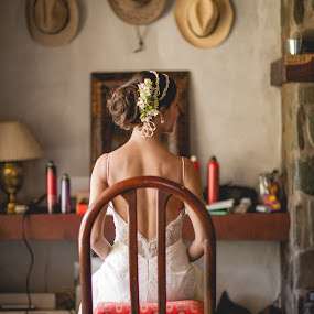 Bride by Jorge Asad - Wedding Getting Ready ( dress, elegance, getting ready, lady in white, beauty, bride )