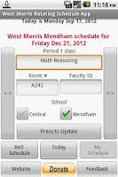 Screenshot of West Morris Rotating Schedule