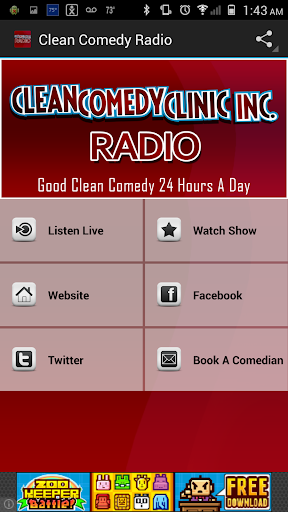 Clean Comedy Radio