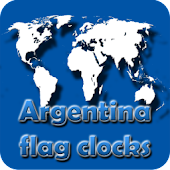 Argentina flag clocks