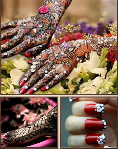Nail Art Mehndi Designs
