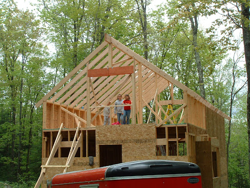 20x32 1 5 Story Cabin On Its Way Up In Ne Wisconsin