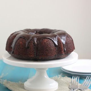 Whole Wheat Glazed Chocolate Zucchini Bundt Cake