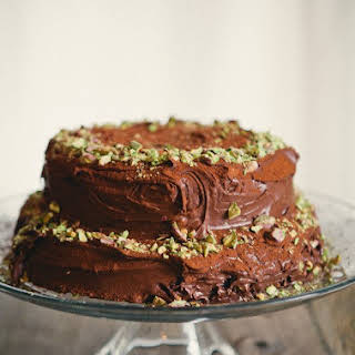 Double Chocolate Sour Cream Cake.