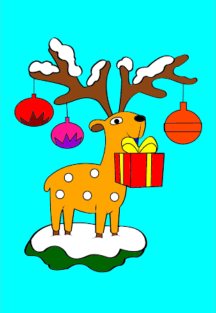 Coloring Christmas - Kids game 1.5 screenshot 513287