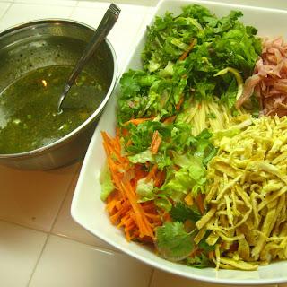 Korean Cold Noodle Salad.