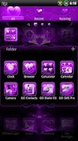 Screenshot of Valentine Purple GO Theme