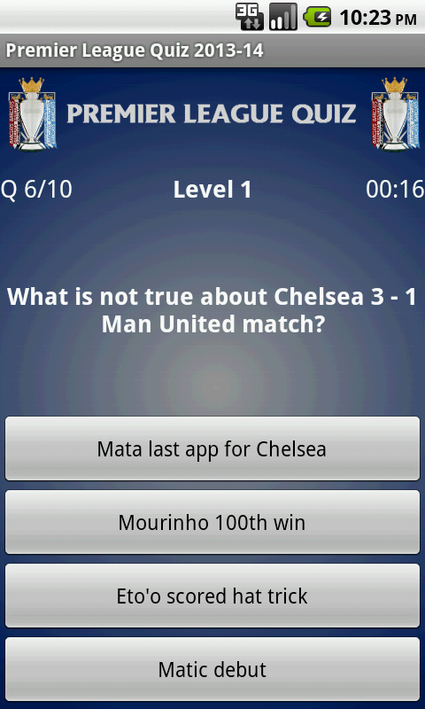 Premier League Quiz 2013-14 - screenshot