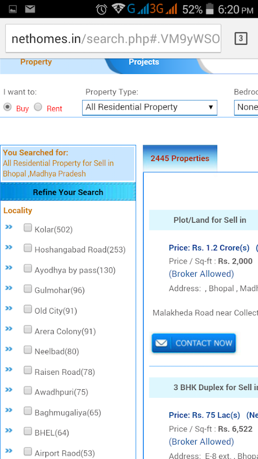 Nethomes Property Search- screenshot