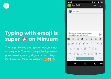 Minuum Keyboard + Smart Emoji Screenshot 3