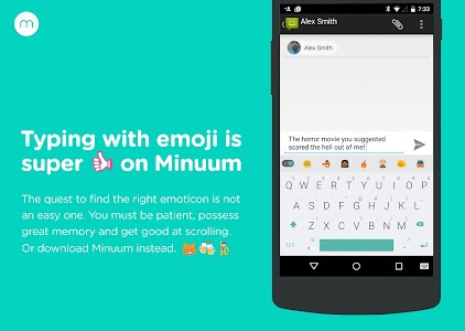 Minuum Keyboard + Smart Emoji v3.4