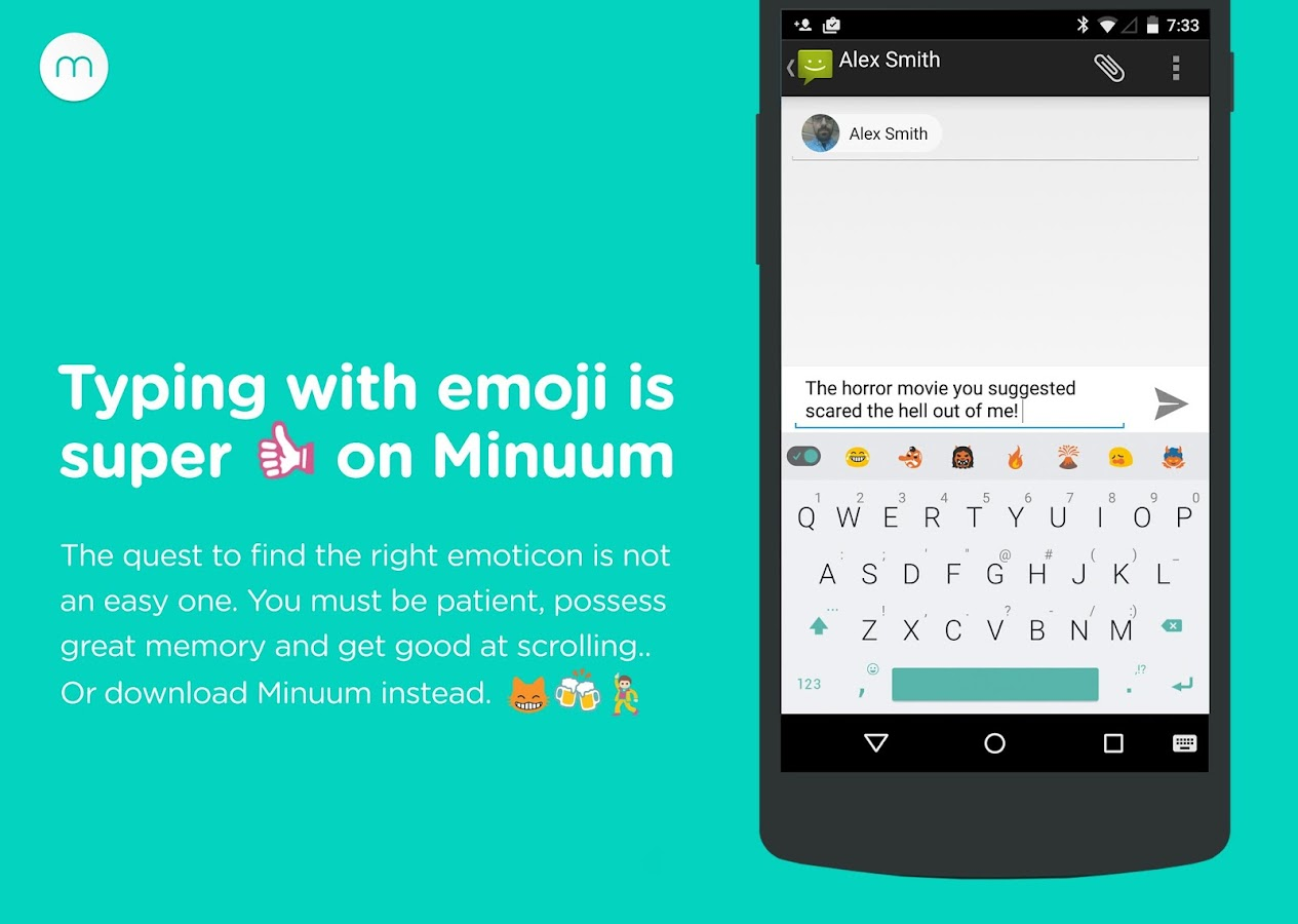 Minuum Keyboard + Smart Emoji - screenshot