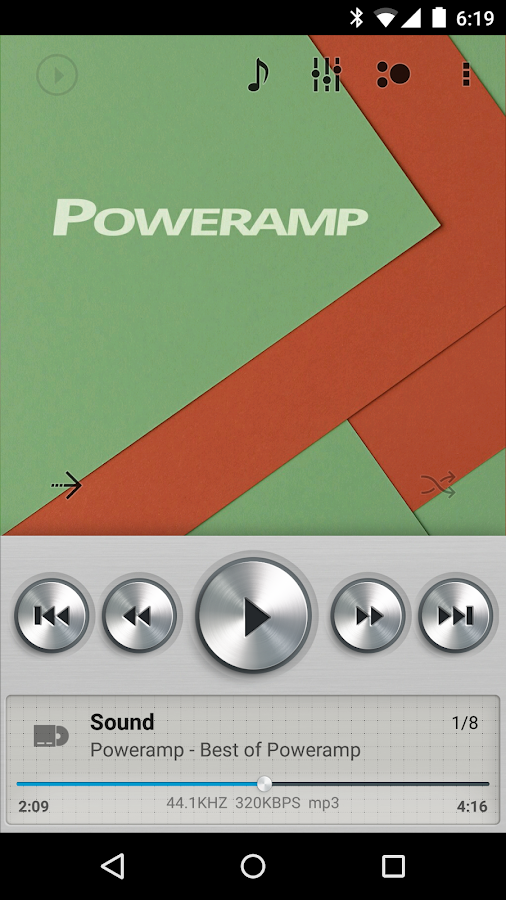 Skin for Poweramp Light Metall- screenshot