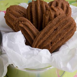 Chocolate Malt Spritz Cookies