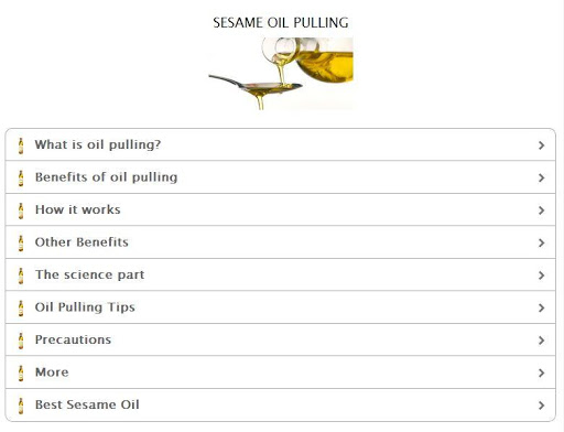 Sesame Oil Pulling