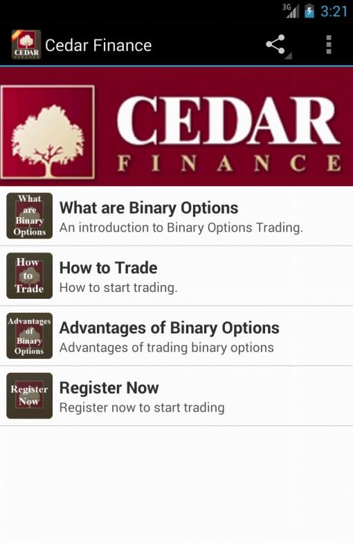 Cedar Finance - screenshot