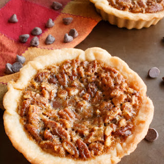 Mini Molten Chocolate Pecan Pies.